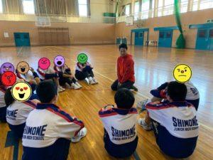 カラダnoスクールにて中学生にスポーツ指導をする株式会社代表取締役川谷響