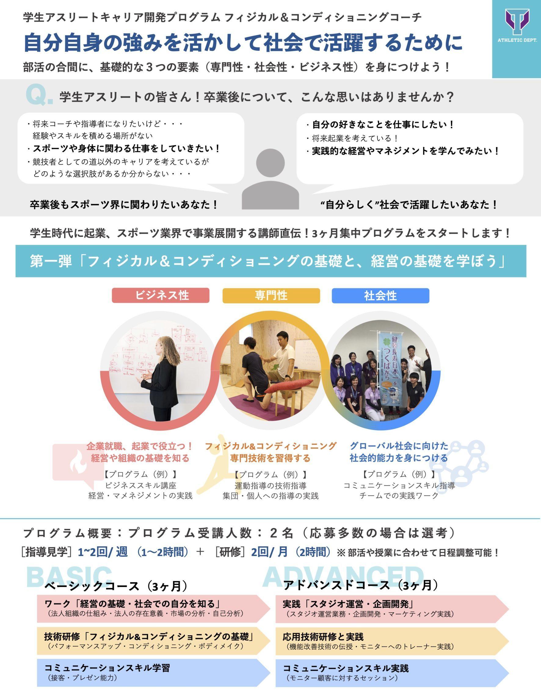筑波大学アスレティックデパートメント学生アスリートキャリア開発プログラム